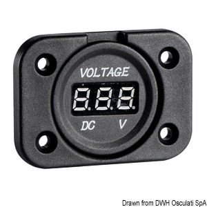 Digital voltmeter and sockets for recess mounting title=