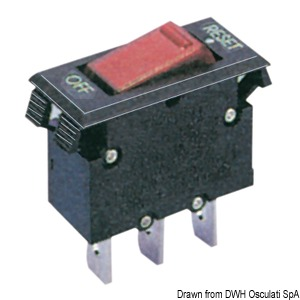 Thermal toggle switch, resettable model