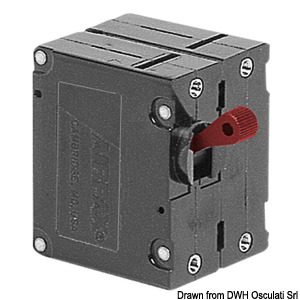 Airpax hydraulic magnetic circuit breaker 5A 80 V