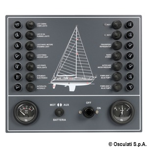 tableau lectrique bateau voile 14 interrupteurs. Black Bedroom Furniture Sets. Home Design Ideas