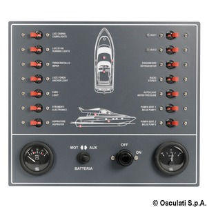 Electric control panel with 14 switches title=