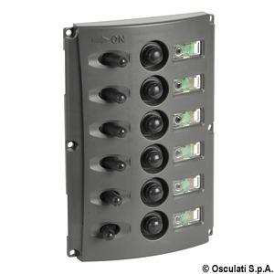 Электрические щитки с автоматическими предохранителями и двойной светодиодной индикацией title=