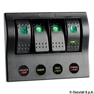 PCP Compact electrical panel with circuit breaker and LED title=