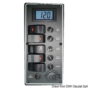 Electrical panel PCAL series with 9/32V digital voltmeter title=