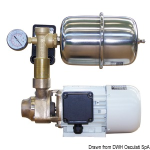 CEM fresh water pump with bronze body and accumulator tank title=