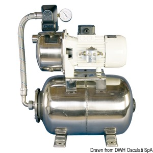 CEM fresh water pump with accumulator tank title=