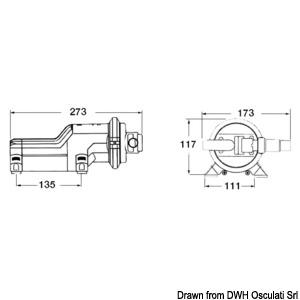 Pompa Whale Gulper 220 24 V 16.155.40