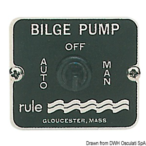 RULE panel switch for bilge pumps title=