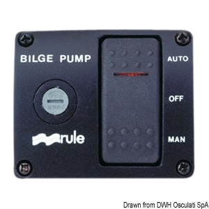 RULE Deluxe panel switch for bilge pumps title=