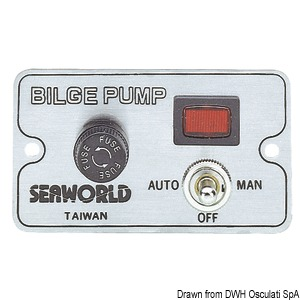 Manual panel switch for electric bilge pumps title=