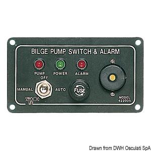Komandna ploča za električne kaljužne pumpe title=