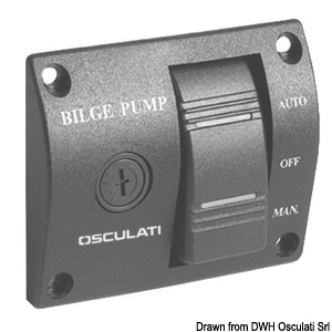 Panel switch for bilge pumps