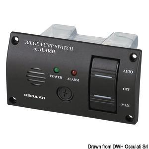 Komandna ploča za kontrolu kaljužnih pumpi sa zvučnim alarmom title=