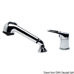 Olivia single-control chromed mixer + removable chromed shower title=