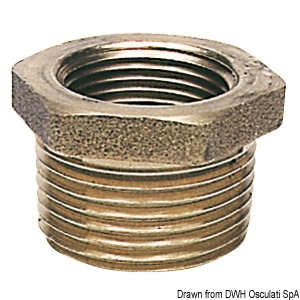 Brass reducing couplings male/female