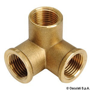 3-way brass joint title=