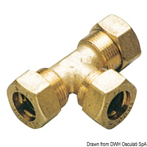 "Brass compression joints for cooper pipe with ""0"" Ring seal"