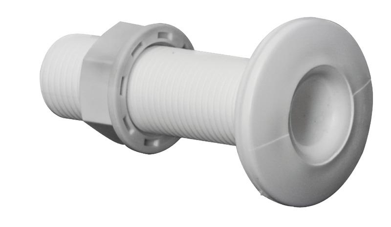 Beliebt Borddurchlass aus weißem Kunststoff mit Gewinde GA15