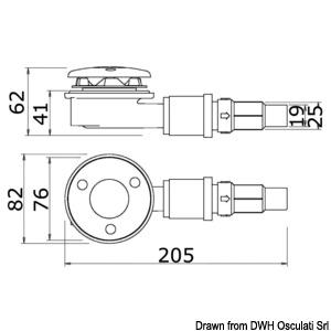 WHALE drain plug with IC automatic sensor