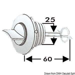 Water drain plug title=