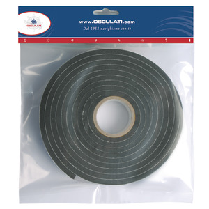 Self-adhesive tape for seals of portlights, hatches, windows, etc title=