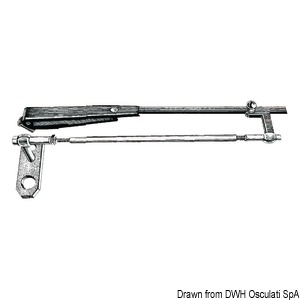Stainless steel parallelogram arm for windshield wipers title=