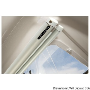 Oceanair roller blind 720 x 320 mm White roller hardware