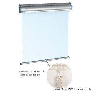 OCEANAIR Skyshade Hatchshade 750 roller blinds for hatches and windows title=