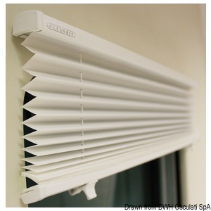 DOMETIC Skysol Motion pleated blind for hatches and portlights title=