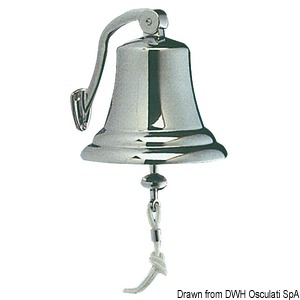 Type-approved chromed brass bell title=