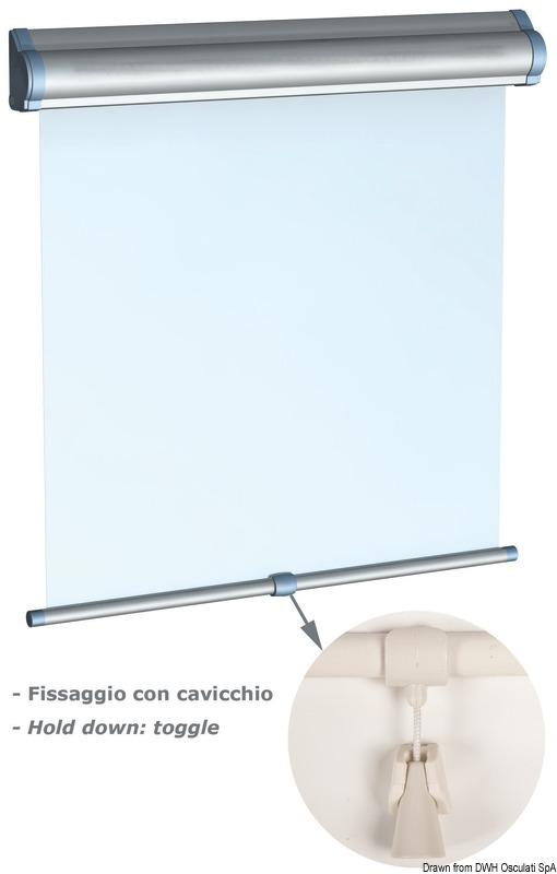 Osculati Blackout Window Roller Blind for Hatches White 500x600mm