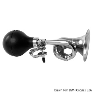 Japanese hand pressure chromed brass fog horn title=