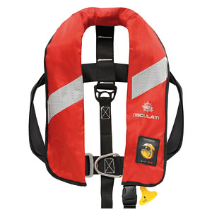 Security self-inflatable lifejacket with HAMMAR hydrostatic inflation - 165 N (EN ISO 12402-3) title=