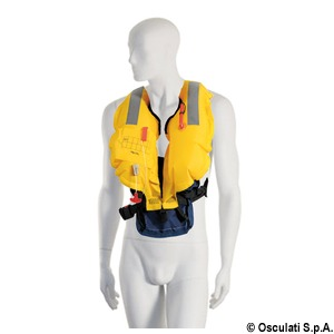 Belt-fixing self-inflatable lifejacket - 150 N (EN ISO 12402-3) title=