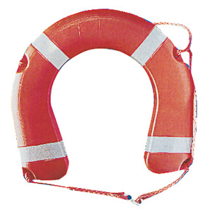 Horseshoe lifebuoy conforming to Ministerial Decree 385/99 title=