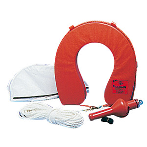 Horseshoe lifebuoy 22.416.02 with accessories + cover