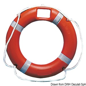Approved ring lifebuoy, with floating rescue light housing title=