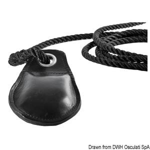 Leather line-throwing gun