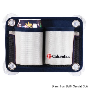 COLUMBUS 2-place glass/can holder pouch title=
