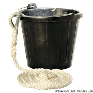 Rubber sinking bucket