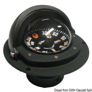 RIVIERA Zenit recess fitting compass with telescopic anti-glare screen
