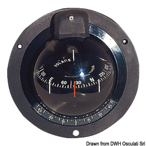 RIVIERA Polare bulkhead mounting compass for sailing boats