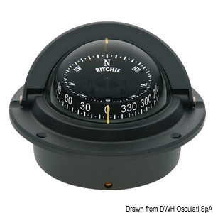 RITCHIE Voyager 3'' (76 mm) compasses with compensators and night lighting title=