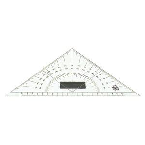 Plexiglass triangular protractor