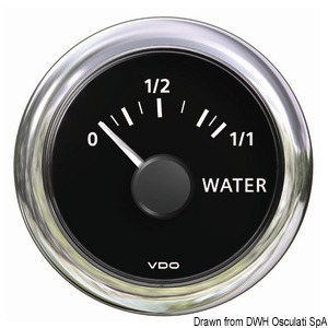 Water level indicator 10/180 ohm black