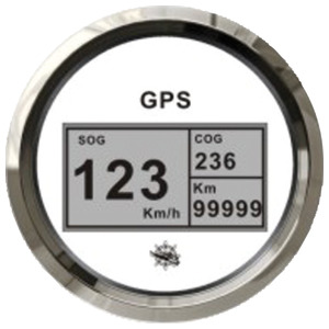 GPS speedometer/mile counter without transducer