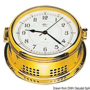 Horloge marine boîtier en laiton title=