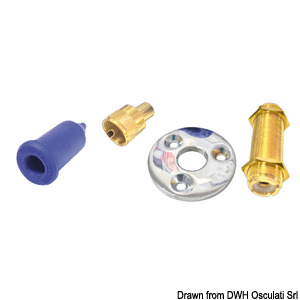5-cm deck fairlead in golden colour title=