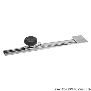 Telescopic stern transducer support