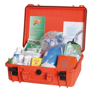 First aid kit cases and seasickness bands